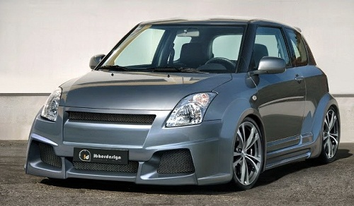 Modifikasi Mobil Suzuki Swift Lowrider Minimalis
