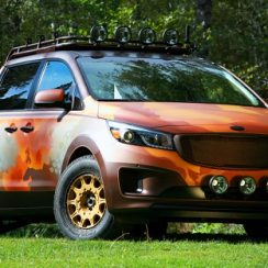 Modifikasi Mobil KIA Carnival Gaya Safari Double Cabin