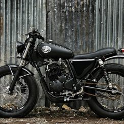 Modifikasi Motor Yamaha Scorpio The Smokey Scrambler