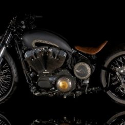 Modifikasi Motor Harley Davidson Sportster 48 Gaya Ancient Indian Artifact