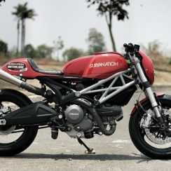 Modifikasi Motor Ducati Monster 795 Gaya Café Racer